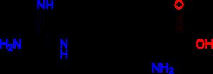 Структурная формула L-аргинина